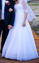 Suknia ślubna litera A, rozmiar 36