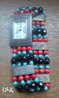 посеребренные Женские наручные часы CHICO'S JAPAN кольцо серьги