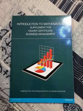 Introduction to Mathematics. Supplement for Higer Certificate: BM