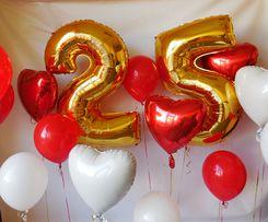 Цифра на день рождения фольгированные шары) 70 см кульки, шарики