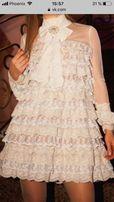 Кружевное платье ручной работы от дизайнера