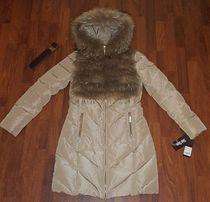 Новый пуховик SHIN SHOW рМ Италия парка куртка пальто натуральн енот