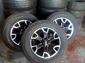 18'' Toyota new rims and tyres