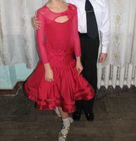 Платье для бальных танцев (бейсик) до 128 см.
