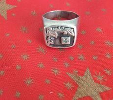 Перстень,печатка серебро ЗКХ СССР