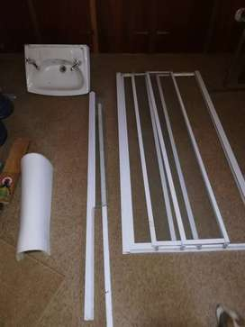shower door and basin forsale and ceiling board and ceiling isolation