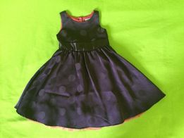 JAK NOWA! Sukienka elegancka fioletowa w grochy