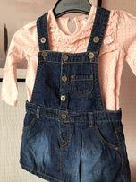 Komplecik F&F rozm.80 stan idealny 9/12 sukieneczka bluzka
