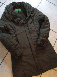 płaszcz zimowy płaszczyk ciemnobrązowy S 36