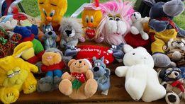 miśki maskotki kubuś puchatek, tweety, myszka, owieczka, baranek