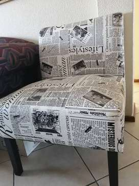 Chair, black and white
