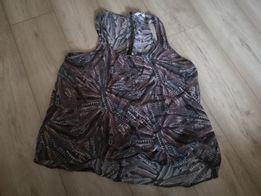 Bluzka koszulka bez rękawów mgiełka pióra damska 48 z tyłu zameczek