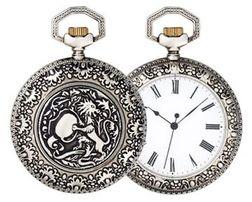 014 = Журнал - Коллекционные карманные часы №014 - Часы Лев