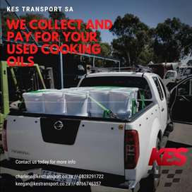 We buy used cooking oil, best prices- KES Transport Sa