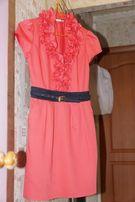 Платье коралловое р.38 Турция , отличное состояние