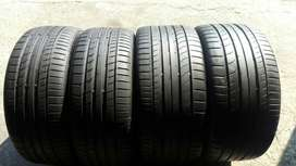 Set of 18 inche continental tyres for sell