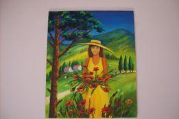 obraz olejny 50 x 60 na płótnie, sygnowany