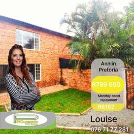SPACIOUS 2 BEDROOM DOUBLE-STOREY TOWNHOUSE FOR SALE IN ANNLIN, PTA