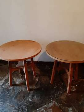 2 x Round Wooden tables for sale