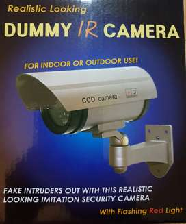 Cctv camera dummy unit with red flashing light. Easy to set up.