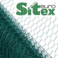 Siatka hodowlana hexagonalna na woliery ogrodzenia 40/1/ zielona PCV