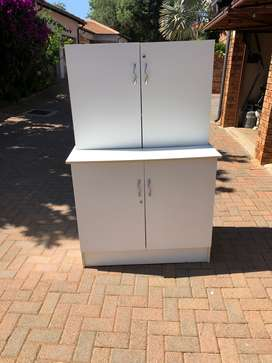 2 Wooden Cupboards - white