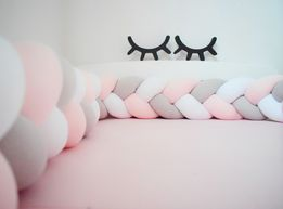 Ochraniacz do łóżeczka, Warkocz, otulacz