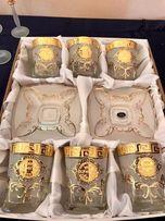 Bohemia Чайный сервиз Богемия ручная работа золото Чехия