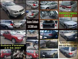 Subaru Forester, Outback and Legacy stripping for spares.