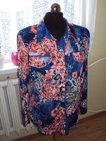 Bluzka Koszulowa w Kwiaty rozm. XL