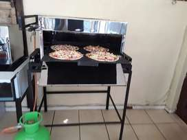 Gas grillers, chip friers and pizza y