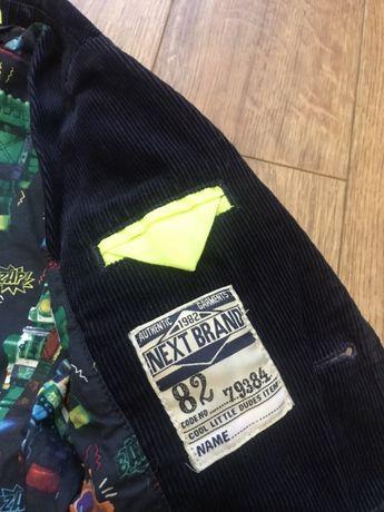 Вельветовый пиджак,Next,2-3 года Инженерный - изображение 4