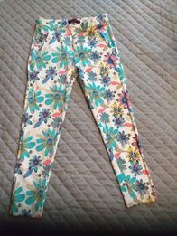 Spodnie w kwiaty rozm S