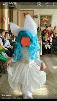 Нежное, нарядное платье белое. Для девочки 3-6 лет.