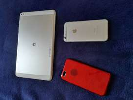 White iPhone 6 16gig + Huawei Tablet/MediaPad for sale