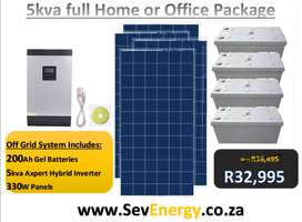 5Kva Solar package ideal installations(Home/Office)