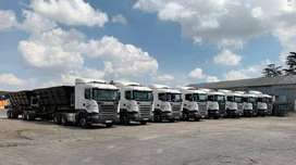 BEST POWERFUL 34 TON SIDE TIPPER TRUCKS FOR HIRE  IN SOUTH AFRICA