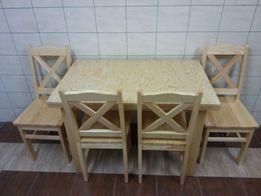 Stół okrągły krzesła sosnowe nie taboret biurko sofa szafa kuchenna