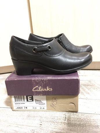 Женские туфли новые clark's на 37. на ножку 24 см. Кожа Киев - изображение 1