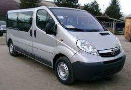 Wynajem samochodów Bus opel Vivaro 9 osobowy 910zł tydzień