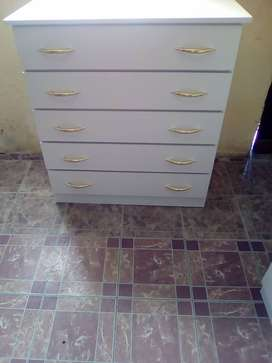 Brand new white melamine chest of drawers sold at factory prices