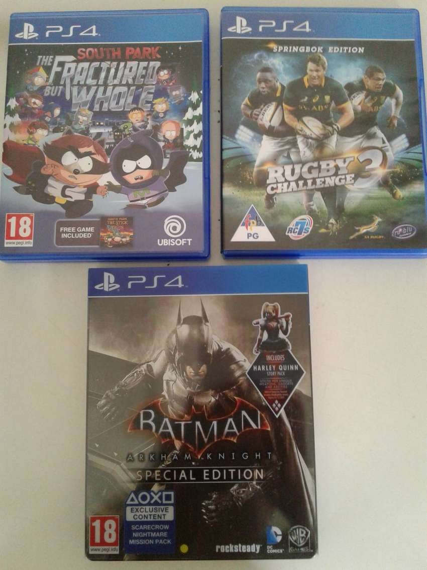 ps4 games for sale at R:300 each