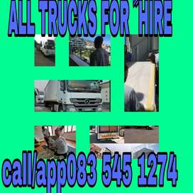RELIABLE TRUCKS AND BAKKIES FOR ﹰﹰHIRE
