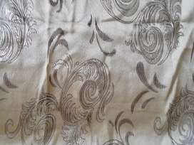 Gold embossed curtains