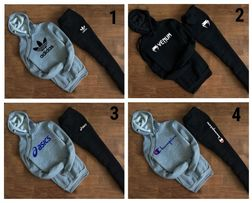Мужской теплый зима костюм с худи Supreme,Levis,Trasher,Nike,Adidas