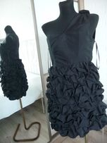 Sukienka Divided Exclusive H&M r 36 czarna oryginalna drapowana