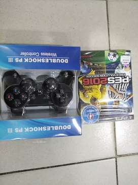 Ps3 Double shock wireless controller +Pes 16