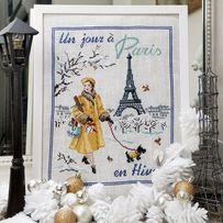 Схемы для вышивания Один день в Париже