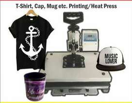 9-IN-1 Heat Press Machine and all Acsoceries, Sublimation Printer