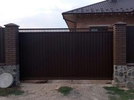 Ворота , откатные, розпашные, калитки, заборы, металлоконструкции!!